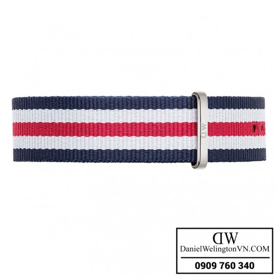 Dong ho Daniel Wellington Classic Canterbury 40mm Day NATO xanh trang do 0202DW