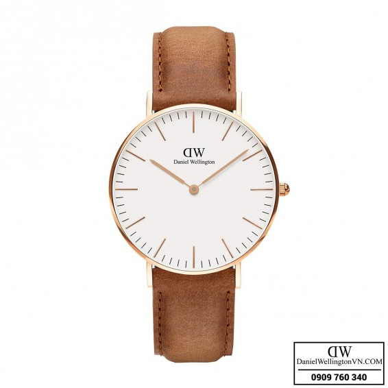 Dong ho Daniel Wellington Classic Durham 36mm Rose Gold