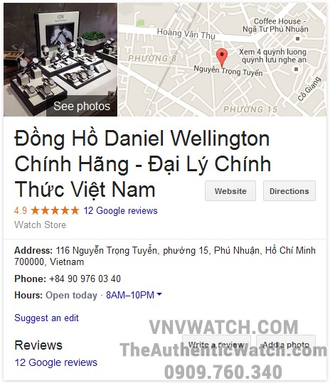 Dai ly dong ho Daniel Wellington chinh hang