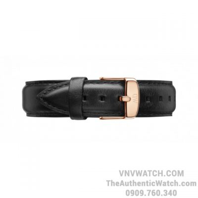 Dây Da Daniel Wellington Dapper Sheffield 17mm Rose Gold